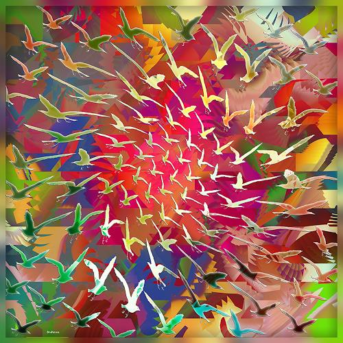 Dieter Bruhns, Color Cyclone, Fantasy, Abstract Art, Abstract Expressionism