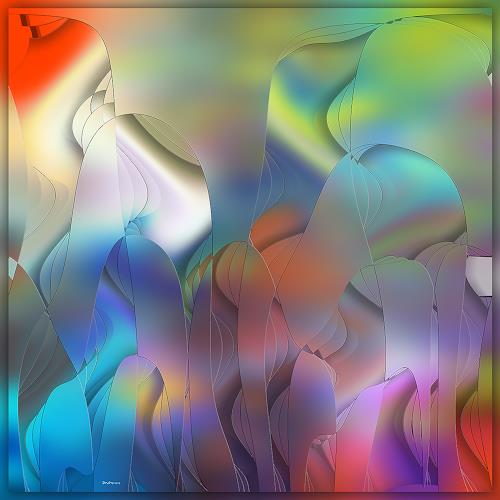 Dieter Bruhns, Rendezvous, Fantasy, Abstract Art