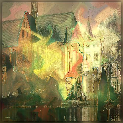 Dieter Bruhns, Mills Lake, Fantasy, Abstract Art