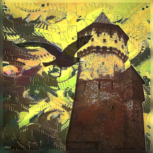 Dieter Bruhns, Tower, Fantasy, Abstract Art