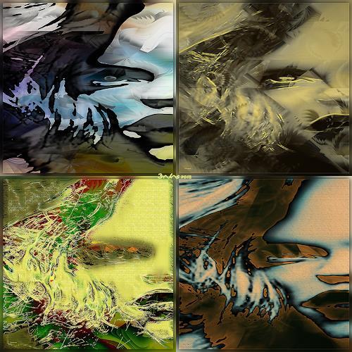 Dieter Bruhns, No Hesitation, Fantasy, Abstract Art