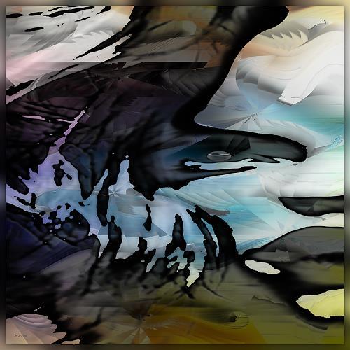 Dieter Bruhns, Behind the Horizon, Fantasy, Abstract Art