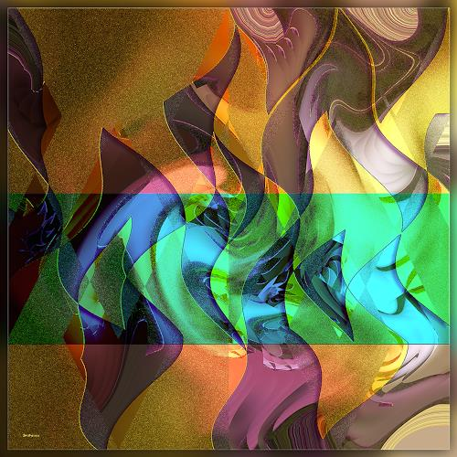 Dieter Bruhns, Interferences, Fantasy, Abstract Art