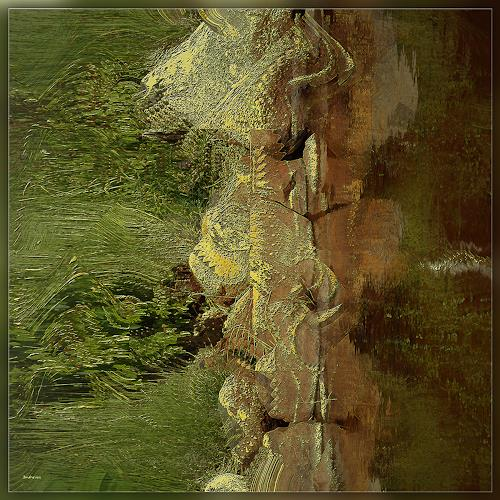 Dieter Bruhns, Natural Ghost, Fantasy, Abstract Art