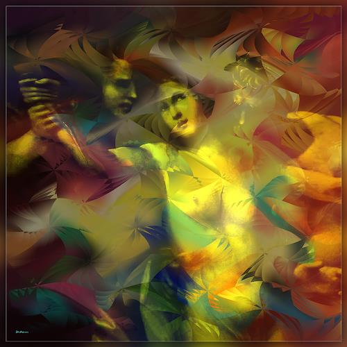 Dieter Bruhns, Lucretia's Fight, Fantasy, Abstract Art