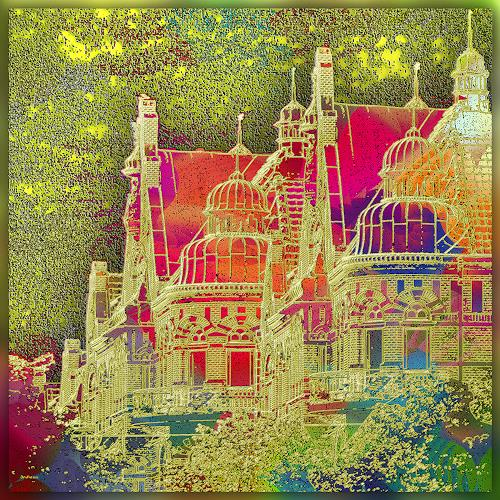 Dieter Bruhns, Art Nouveau House, Fantasy, Abstract Art