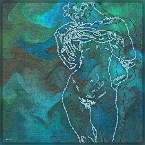 Dieter Bruhns, Maritim Blues (basic.Egon Schiele), Music, Abstract Art