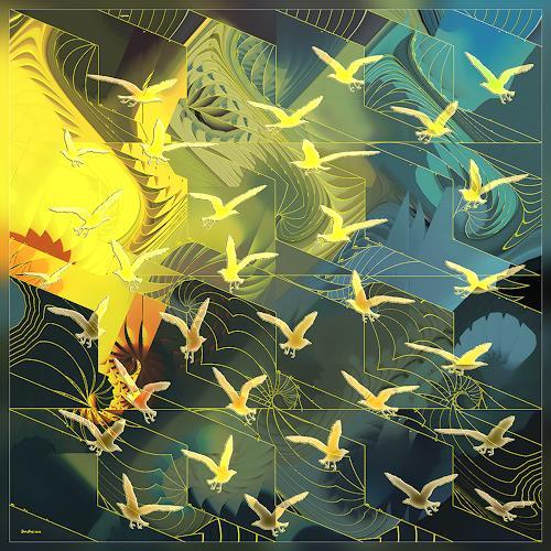Dieter Bruhns, Larry Carlton Birds, Music, Abstract Art