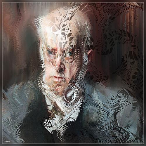 Dieter Bruhns, Male Portrait, Painter, People: Portraits, Abstract Art
