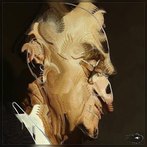 Dieter Bruhns, Male Portrait, Thinking About Birds Affairs, People: Portraits, Abstract Art