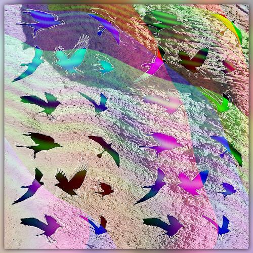 Dieter Bruhns, Pastel Flight, Fantasy, Abstract Art