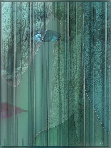 Dieter Bruhns, Half Face, Fantasy, Abstract Art