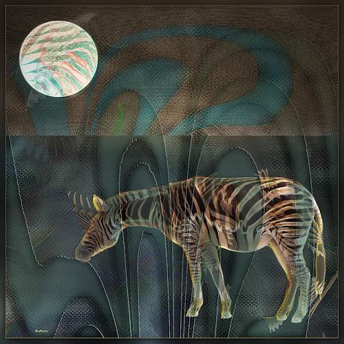 Dieter Bruhns, Stripes make you Slim, Fantasy, Abstract Art