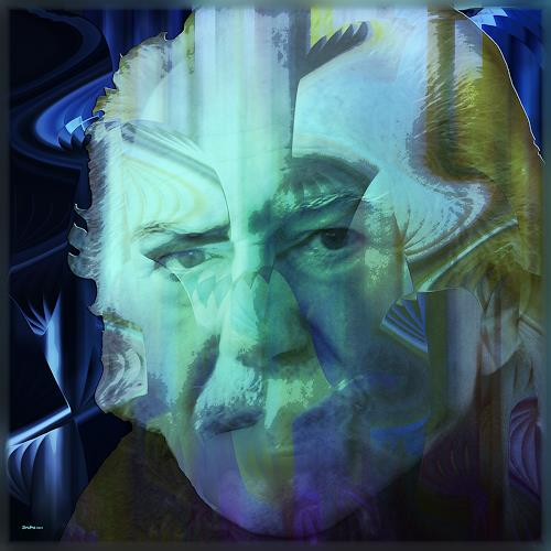 Dieter Bruhns, Blues, Fantasy, Abstract Art