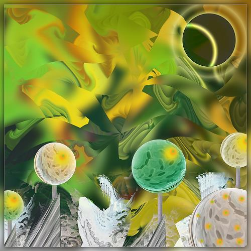 Dieter Bruhns, Growing Lights, Fantasy, Abstract Art