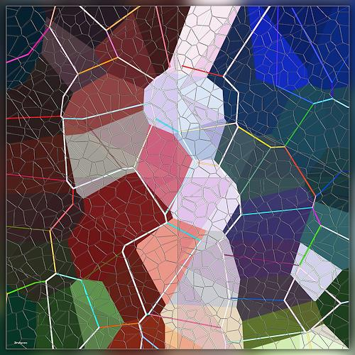 Dieter Bruhns, Triple Net, Fantasy, Abstract Art