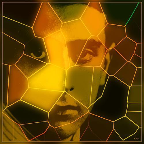 Dieter Bruhns, Orange Peel, Fantasy, Abstract Art