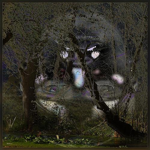 Dieter Bruhns, Dark Impression, Fantasy, Abstract Art