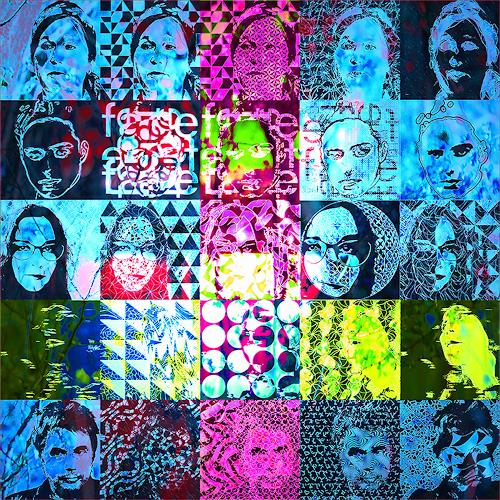 Dieter Bruhns, Faces, People, Abstract Art