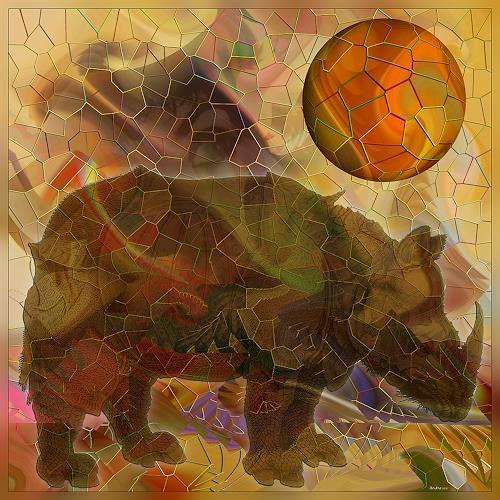 Dieter Bruhns, Friends' Changes, Abstract art, Abstract Art