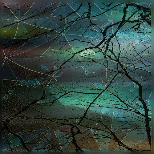 Dieter Bruhns, Cold Border, Landscapes, Abstract Art