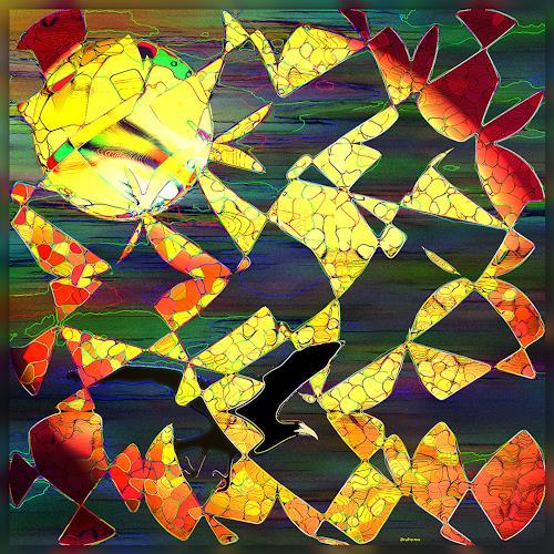 Dieter Bruhns, Autumn Moon, Abstract art, Abstract Art