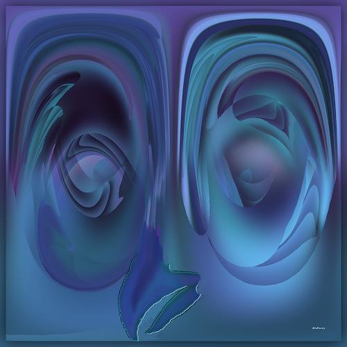 Dieter Bruhns, Joke Bird, Abstract art, Abstract Art