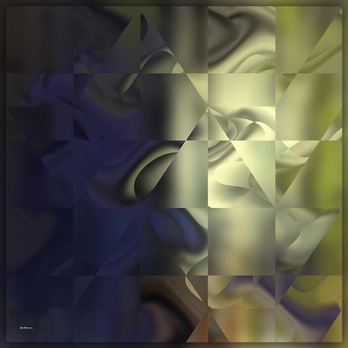 Dieter Bruhns, Night and Day, Abstract art, Abstract Art