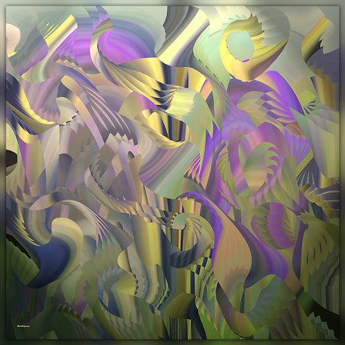Dieter Bruhns, Vegetation, Abstract art, Abstract Art