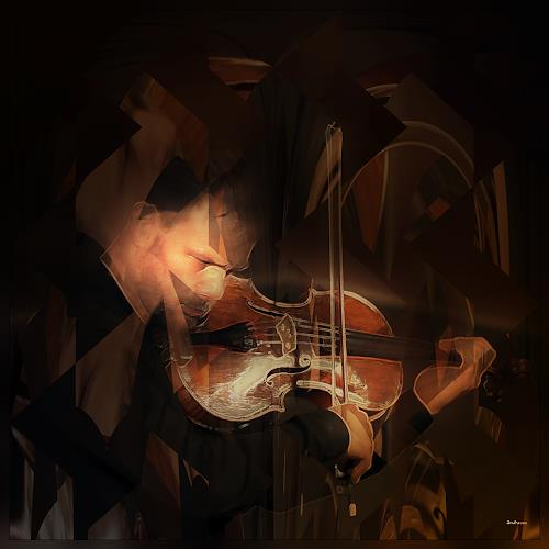 Dieter Bruhns, String Instrument Player, Abstract art, Abstract Art