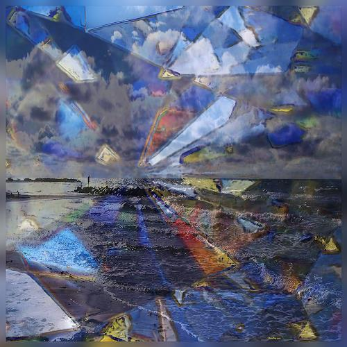 Dieter Bruhns, Coast and Colors, Landscapes, Abstract Art, Abstract Expressionism