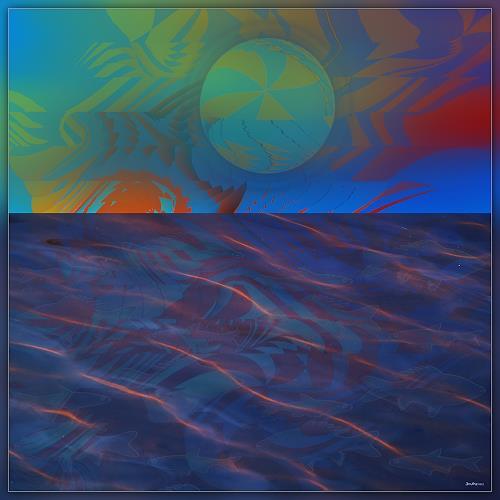 Dieter Bruhns, Horizon, Fantasy, Abstract Art