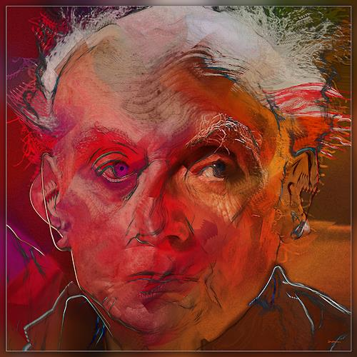 Dieter Bruhns, Redskin, People: Portraits, Abstract Art