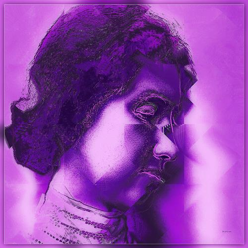 Dieter Bruhns, Violeta, People: Portraits, Abstract Art