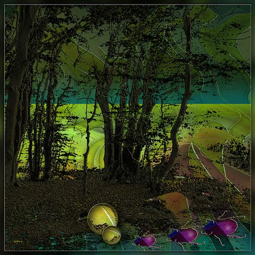 Dieter Bruhns, Ways to Survive, Landscapes, Abstract Art