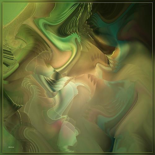 Dieter Bruhns, Ways of Caress, Abstract art, Abstract Art