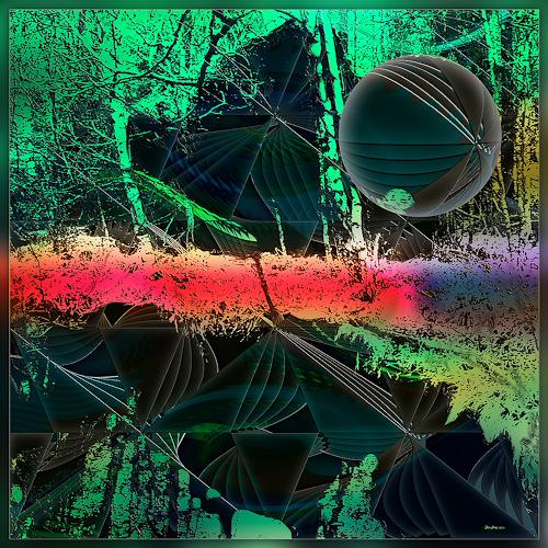 Dieter Bruhns, Miss Caterpillar talks to the Horizon, Fantasy, Abstract Art, Abstract Expressionism