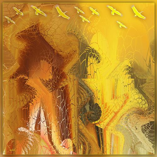 Dieter Bruhns, Yellow, Abstract art, Abstract Art