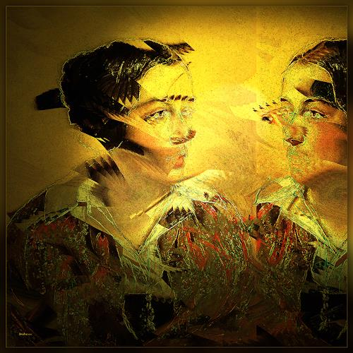 Dieter Bruhns, Strange Mirror, People: Portraits, Abstract Art