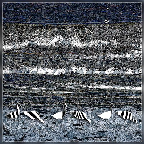 Dieter Bruhns, Coast Stripes, Fantasy, Abstract Art