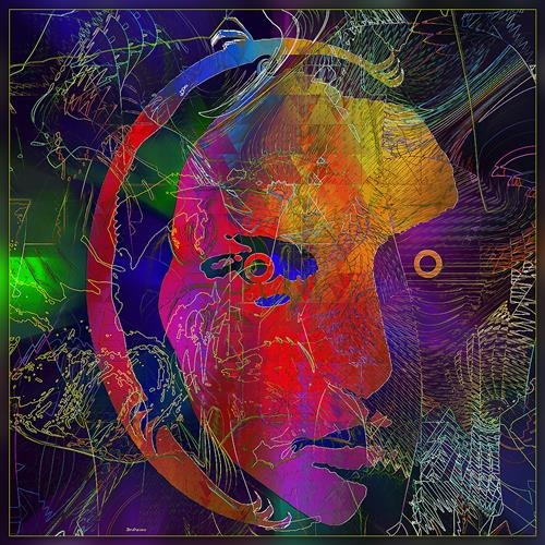 Dieter Bruhns, Mask A, Fantasy, Abstract Art