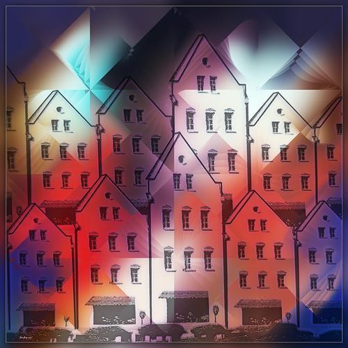 Dieter Bruhns, Couleurs de la Rue, Architecture, Abstract Art