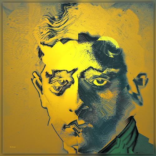 Dieter Bruhns, Moonstruck, People: Portraits, Abstract Art