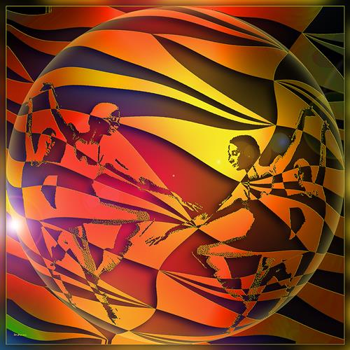 Dieter Bruhns, Dancing Sphere, Fantasy, Abstract Art