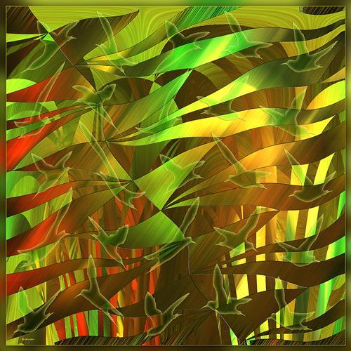 Dieter Bruhns, Dream Forest, Abstract art, Abstract Art