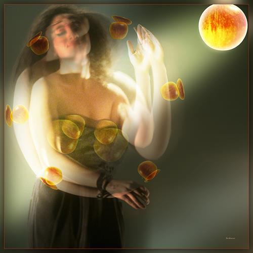Dieter Bruhns, Dancing Fruit, People, Abstract Art