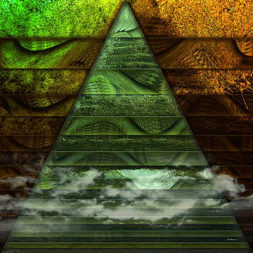 Dieter Bruhns, Triangle, Abstract art, Abstract Art