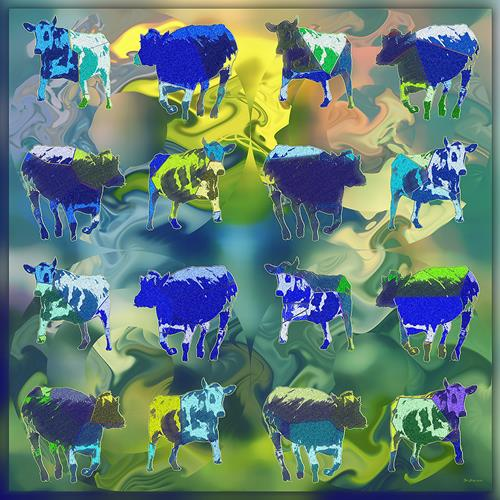 Dieter Bruhns, Square Dance, Animals, Abstract Art