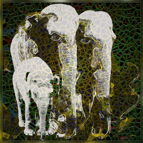 Dieter Bruhns, E-Family, Animals, Abstract Art