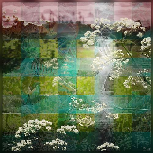 Dieter Bruhns, Spring Meadow, Landscapes, Abstract Art